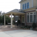 h2 Porch cover on patio with skylight