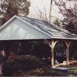 e Carport with wood columns