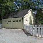 a Garage with double door