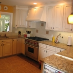 a4 Kitchen remodel, view of stove and cabinets