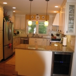 a6 Kitchen remodel with wine cooler