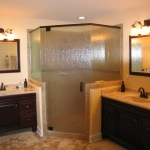 c New vanities, shower and tile floor