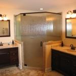 c New vanities, shower and tile floor