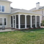 d3 Screened Porch with Columns-patio view