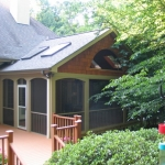 f1 Screen Porch with Skylights & Deck