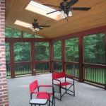 j2 Stained Wood Screen Porch Interior