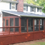 j1 Stained Wood Screen Porch